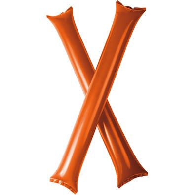 Cheer 2 aufblasbare Klatsch-Stangen, orange