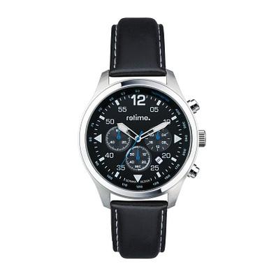 retime® Chronograph Pilot VI, schwarz/silber