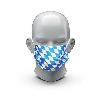 """Community-Maske """"Bavaria"""", blau/weiß"""
