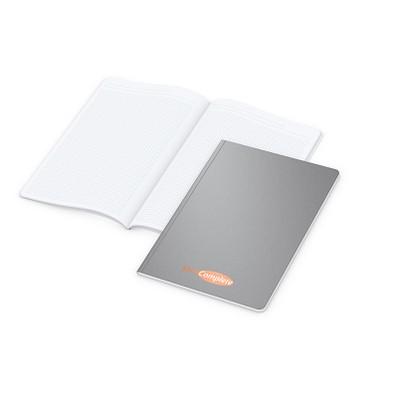 geiger notes Notizbuch Copy-Book White A4 Bestseller, Siebdruck, matt-silber