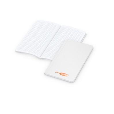 geiger notes Notizbuch Copy-Book White Pocket Bestseller, inkl. Siebdruck, matt-weiß