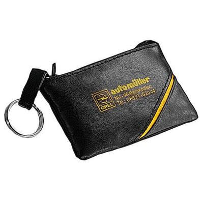 CREATIV-DESIGN Schlüsseltasche CD, schwarz/gelb