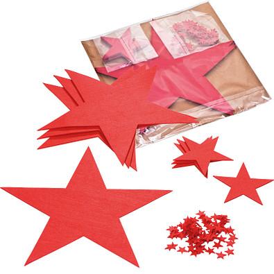 Filz-Sterneset, rot