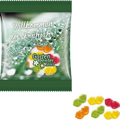 Trolli Fruchtgummi Minitüte 10g, Brille, inkl. Druck, kompostierbare Folie, transparent