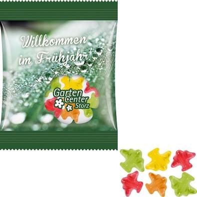 Trolli Fruchtgummi Minitüte 10g, Flugzeug, inkl. Druck, kompostierbare Folie, transparent