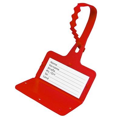 """Gepäckanhänger """"Address"""", standard-rot"""