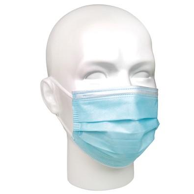Gesichtsmaske für Mund-Nasenabdeckung, 3-lagig, blau