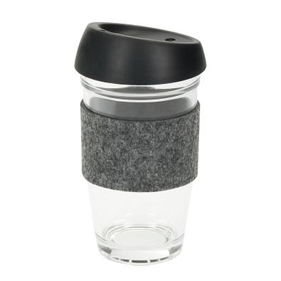 "Glaskaffeebecher ""Cristallo"", large, transparent"