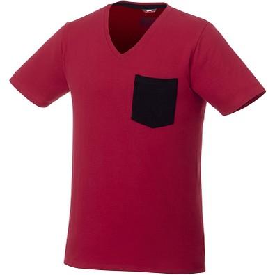 Slazenger™ Herren T-Shirt Gully mit Tasche, dunkelrot,dunkelblau, XL