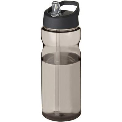 H2O Base Sportflasche mit Ausgussdeckel, 650 ml, charcoal,schwarz