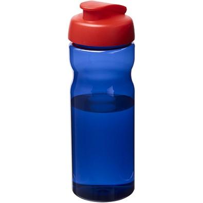 H2O Eco Sportflasche mit Klappdeckel, 650 ml, royalblau,rot