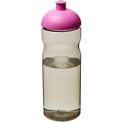 H2O Eco Sportflasche mit Stülpdeckel, 650 ml, kohle,magenta