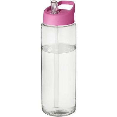 H2O Vibe Sportflasche mit Ausgussdeckel, 850 ml, transparent,rosa