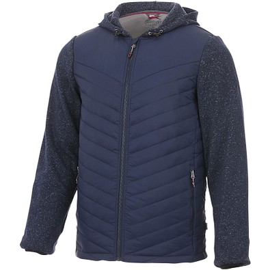 Slazenger™ Herren Thermo Jacke Hutch Hybrid, dunkelblau, L