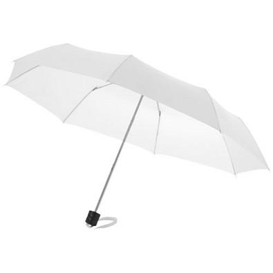 "Ida 21,5"" Kompaktregenschirm, weiss"