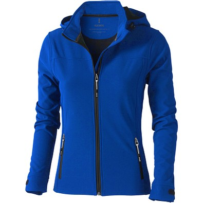 ELEVATE Damen Softshell Jacke Langley, blau, L