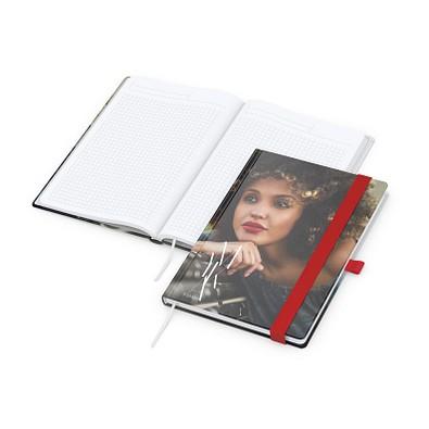 geiger notes Notizbuch Match-Book White A5 Bestseller, matt, rot