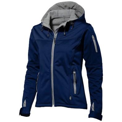 Slazenger™ Damen Softshell Jacke Match mit Kapuze, dunkelblau, M