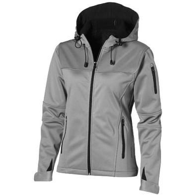 Slazenger™ Damen Softshell Jacke Match mit Kapuze, grau, L