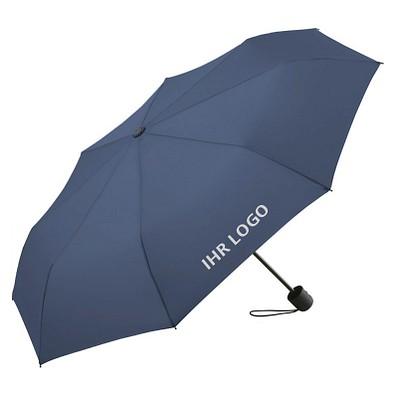 FARE® Mini-Taschenschirm mit Einkaufstasche ÖkoBrella-Shopping, marine