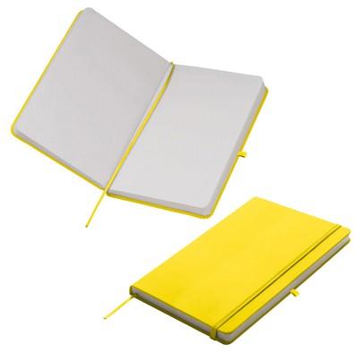 Notizbuch Happy, DIN A5, blanko, gelb