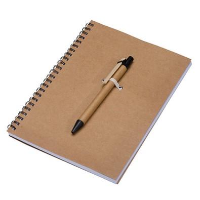 Öko-Schreibblock-Set, DIN A5, liniert, braun