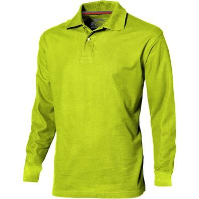 Slazenger™ Herren Langarm Poloshirt Point, apfelgrün, S