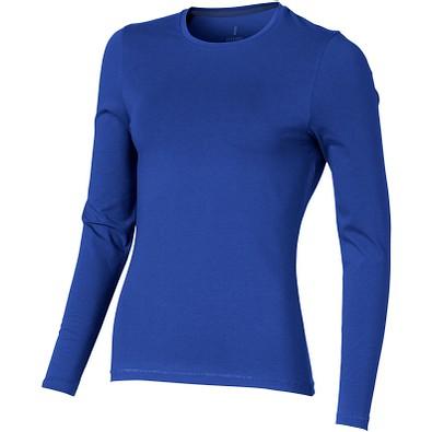 ELEVATE Damen Öko Langarmshirt Ponoka, blau, XS