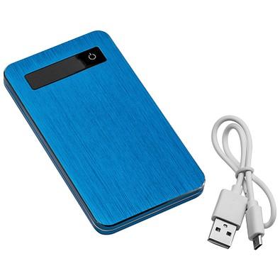 Powerbank 4.000 mAh mit USB Anschluss, inkl. Ladekabel, blau