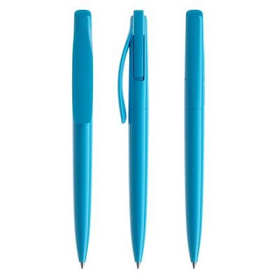 prodir® Druckkugelschreiber DS2 PPP Push, blaue Mine, cyanblau