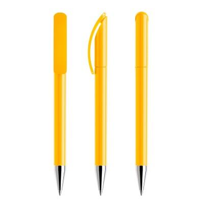 prodir® Drehkugelschreiber DS3 TPC Twist, blaue Mine, gelb