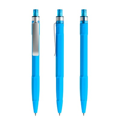 prodir® Druckkugelschreiber QS30 Soft Touch PRS Push, blaue Mine, cyanblau