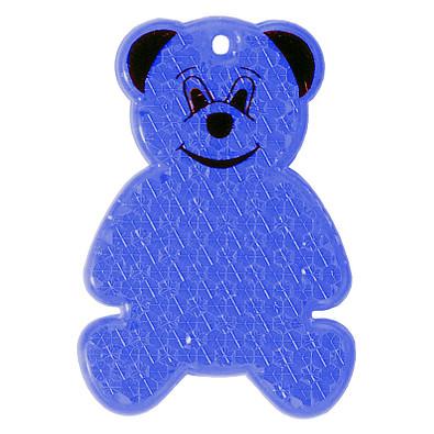 Reflektor Bär, transparent-blau