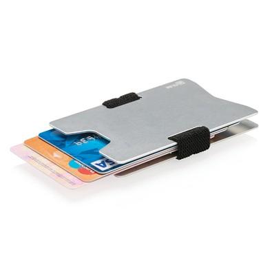 XD COLLECTION RFID Anti-Skimming Kartenhalter aus Aluminium, silber/schwarz