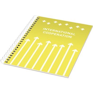 Rothko A4 Notizbuch mit Spiralbindung, gelb,weiss, 50 Blatt
