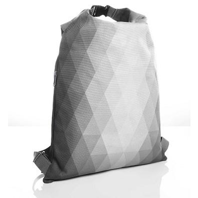 HALFAR Rucksack Diamond mit Wickelverschluss, hellgrau