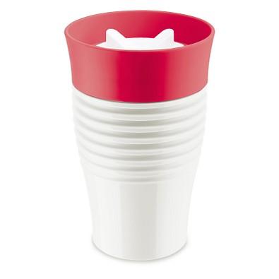 koziol Thermo-Trinkbecher Safe To Go, 400 ml, weiß/rot