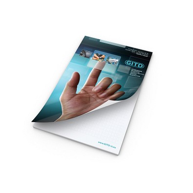 geiger notes Schreibblock A5 Cover Bestseller, inkl. Druck, weiß