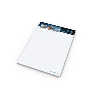 geiger notes Schreibblock A6 Bestseller, inkl. Druck, 50 Blatt, weiß
