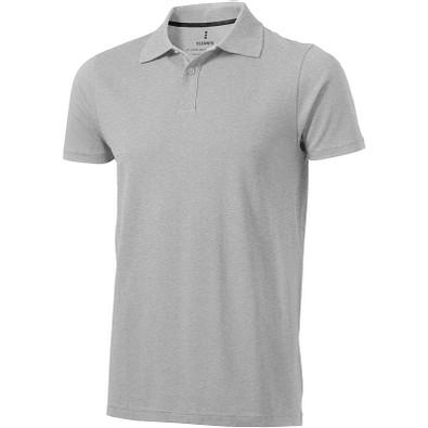 ELEVATE Herren Poloshirt Seller, grau meliert, XL