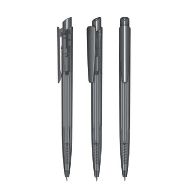 senator® Druckkugelschreiber Dart Clear, blaue Mine, grau 445