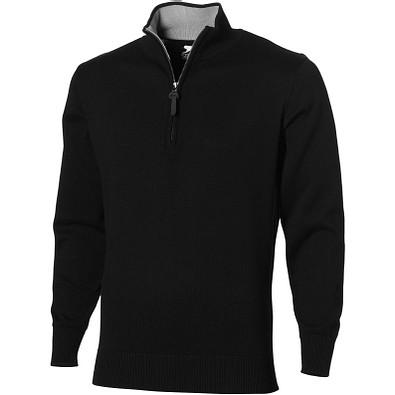 Slazenger™ Unisex Pullover Set mit 1/4 Reißverschluss, schwarz, M