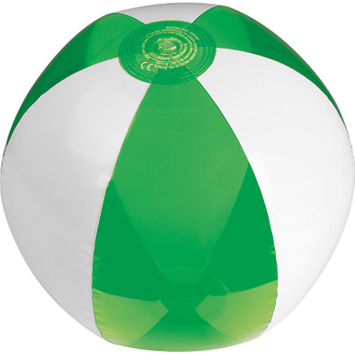 Strandball bicolour, phthalatfrei, grün