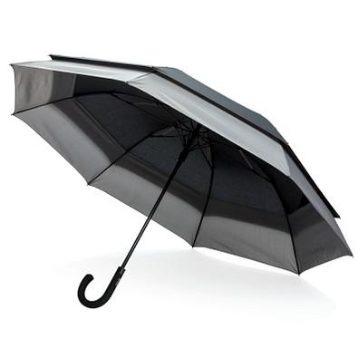 SWISS PEAK® erweiterbarer Regenschirm 23'' zu 27'', schwarz