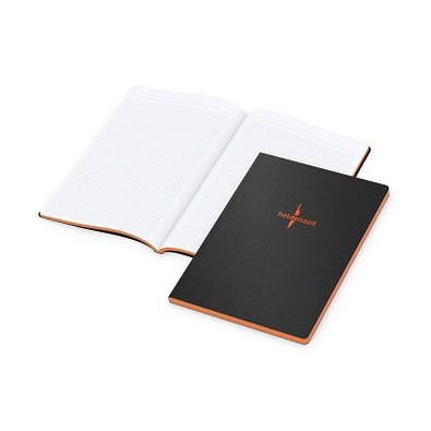geiger notes Tablet-Book Large A4, schwarz, inkl. Farbschnitt und Prägung orange