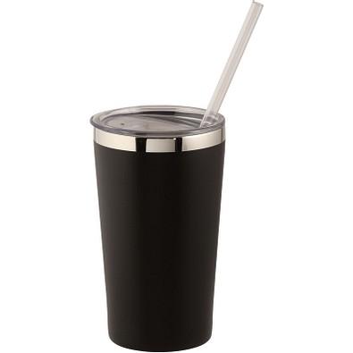 Thor Kupfer-Vakuum Isolierbecher, 475 ml, schwarz