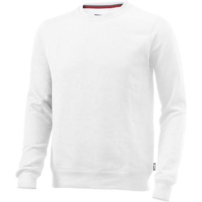 Slazenger™ Unisex Sweatshirt Toss mit Rundhalsausschnitt, weiß, L