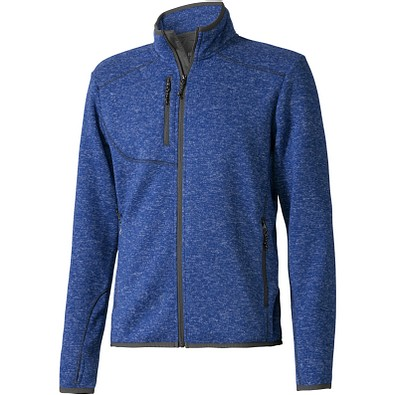 ELEVATE Herren Strickfleece Jacke Tremblant, heather blau, XS