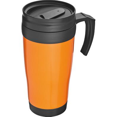 Trinkbecher aus Kunststoff, 400 ml, orange
