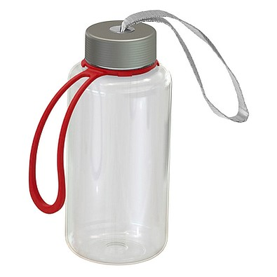 Trinkflasche Pure inkl. Strap, 700 ml, transparent/rot